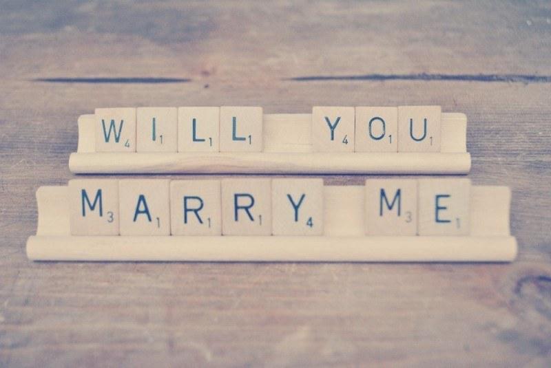 Origineel huwelijksaanzoek