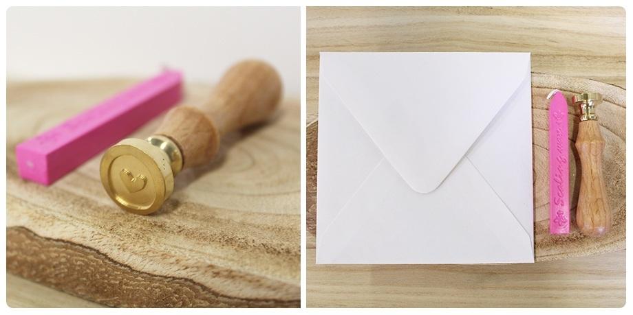 DIY Trouwkaart met waxzegel