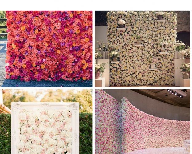 Bloemenwwand op eigen trouwlocatie