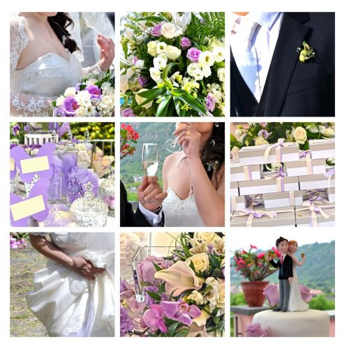 small details of a romantic wedding