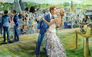 Een schilderij van je bruiloft