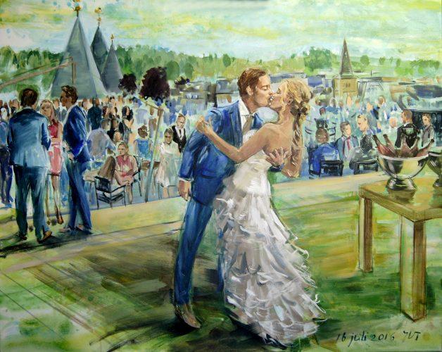 Live schilderij van je bruiloft