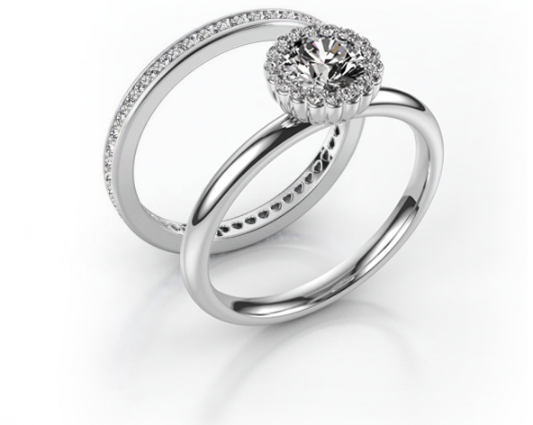 Aanschuifringen van DiamondsByMe als trouwring