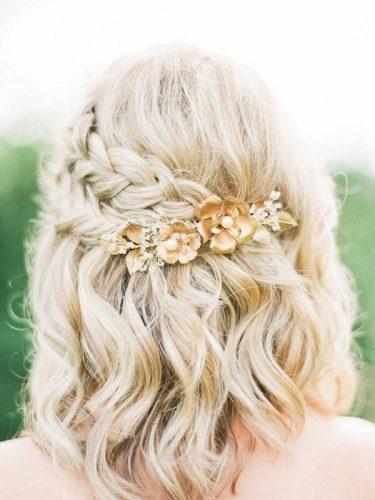 Beautiful Morning Bruidskapsels Halflang Haar